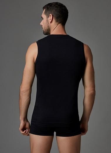 Dagi Compact Kolsuz O Yaka T-Shirt Siyah